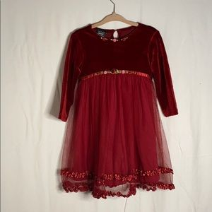 Jenny Annie Dots toddler girls long sleeve dress